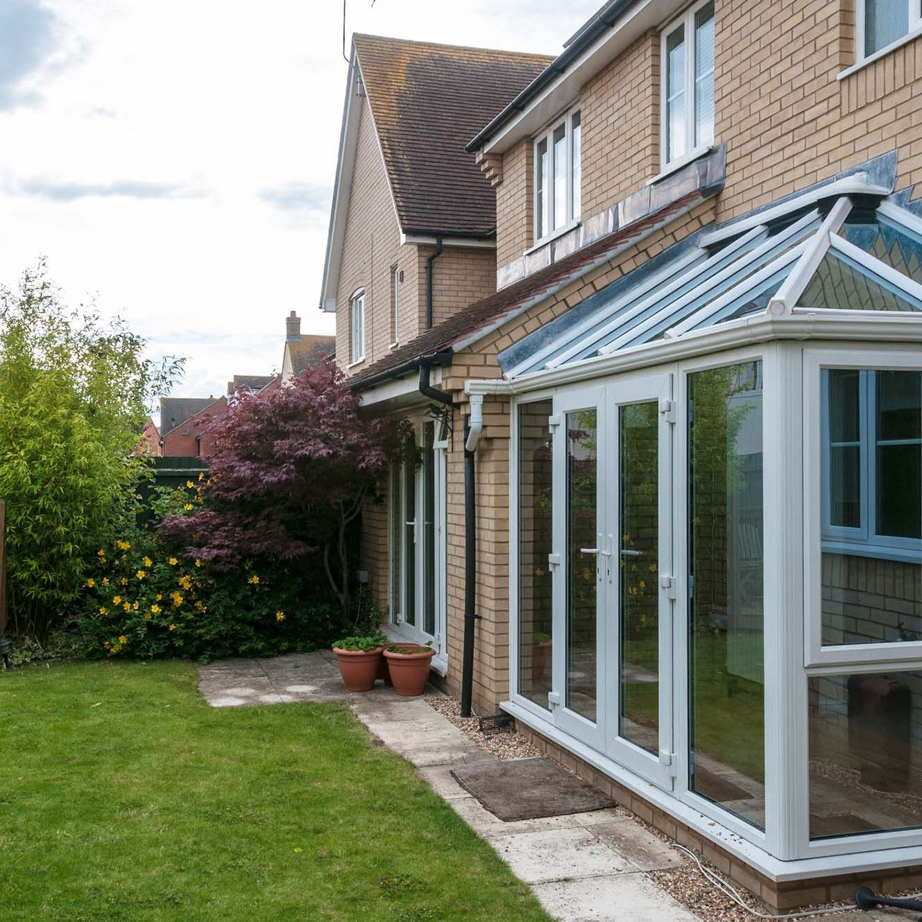 Small rectangle sunroom extension