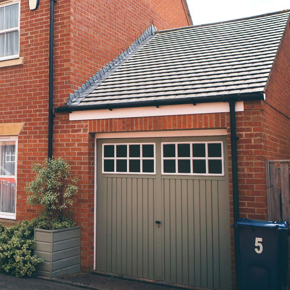 Garage extension on modern house